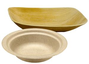 Bridge-Gate sturdy, natural brown dinnerware & VerTerra™ environmentally-friendly plates, bowls and serving dishes
