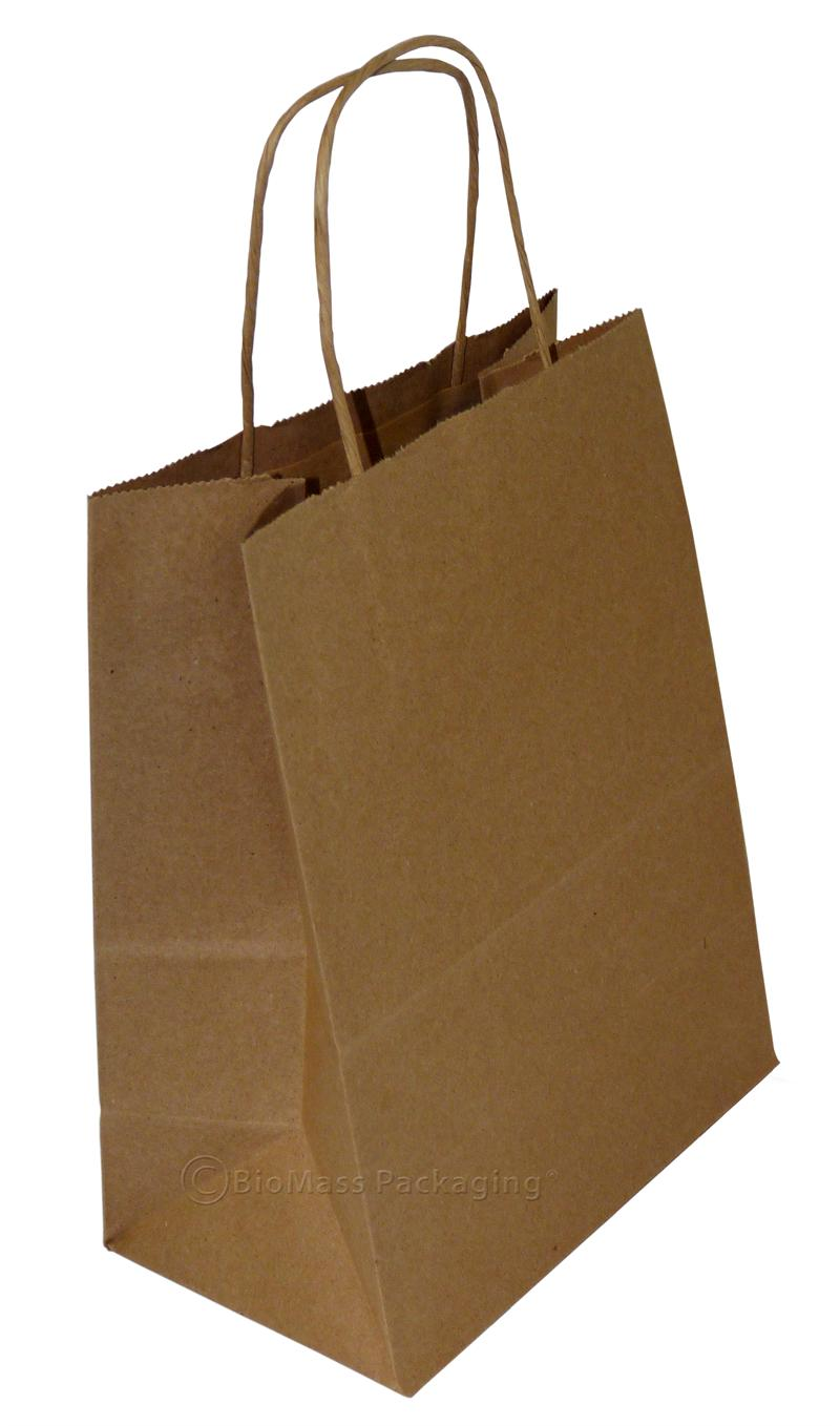 natural kraft shopping bag w handles 8 x x 10 5 case of 250. Black Bedroom Furniture Sets. Home Design Ideas
