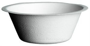 "BagasseWare 6-oz. Flat Bottom Round Bowl (4.5"" x 1.5"") - Case of 1000"