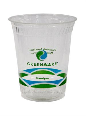 Greenware 12/14-oz Stock Print Clear Cold Cup - Case of 1000