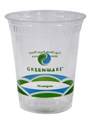 Greenware 16/18-oz Stock Print Clear Cold Cup - Case of 1000