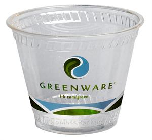 Greenware 9-oz Stock Print Squat Clear Cold Cup - Case of 1000