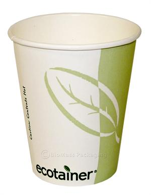 Disposable hot beverage coffee cups from ecotainer are certified compostable