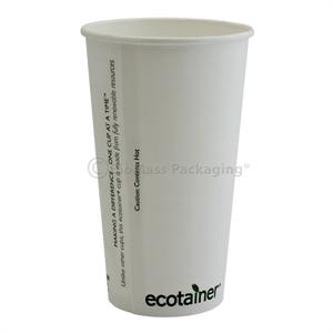 ecotainer 20-oz. Carte Blanc White Hot Cup - Case of 1000