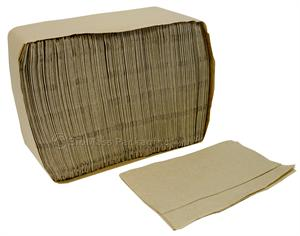 "Natural Masterfold Dispenser Napkin (6.5"" x 5"" opens to 12"" x 13"" ) - Case of 6000"
