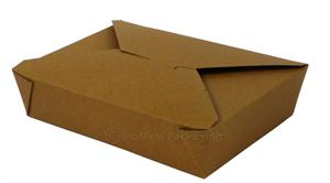 "BioPlus Earth #2 Natural Unbleached Paper Box (8.5"" x 6.25"" x 1.87"") - Case of 200"