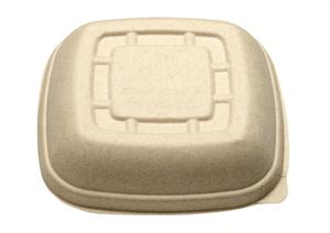 Bridge-Gate Gourmet Lid for 24 to 32-oz. Square Bowls - Case of 500
