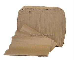 "Natural Folded Dispenser Napkin (6.5"" x 5"" opens to 12 x 13"") - Case of 6000"