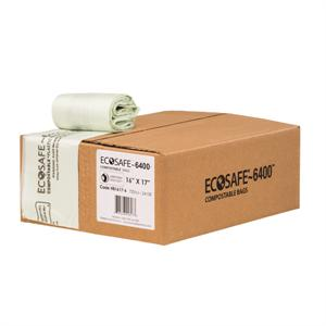 "EcoSafe 6400 2-1/2 gal Trash Can Liner (17"" x 17"") - Case of 600"