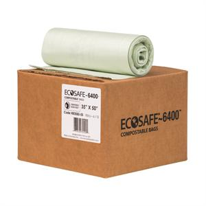 "EcoSafe 6400 45-gal Trash Can Liner (35"" x 50"") - Case of 90"