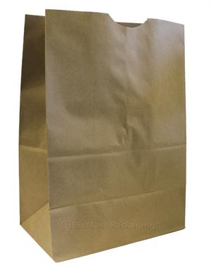"#46 Natural Kraft Grocery Bag 57# (12"" x 7"" x 17"") - Bale of 500"
