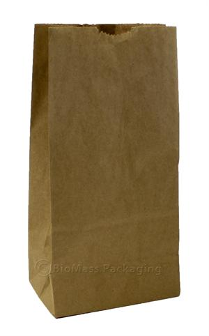 "2 lb. Natural Kraft Small Grocery Bag (4.5"" x 2.5"" x 8.25"") - Bundle of 500"