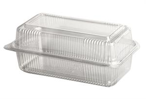 "SeeShell PLA Loaf/Hoagie Hinged Clamshell (9"" x 5"" x 3"") - Case of 250"