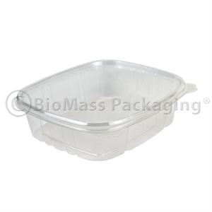 VersaPak 24-oz Deli Container Clear with Hinged Lid - Case of 200