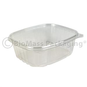 VersaPak 32-oz Deli Container Clear with Hinged Lid - Case of 200