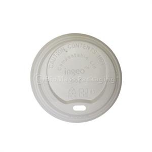 8-oz. Ingeo Compostable Hot Cup Lid - Case of 1000