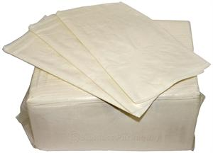 Bagasse 2-ply White Dinner Napkin (15 x 17) - Case of 3000