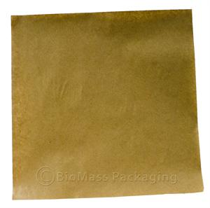 "Natural Kraft Polycoated Sandwich/Freezer Wrap (12"" x 12"" sheets) - Case of 1000"