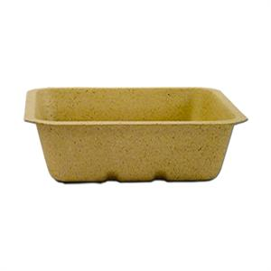 "24-oz. Be Green Food Tray (6.5"" x 6"" x 2"") - Case of 500"