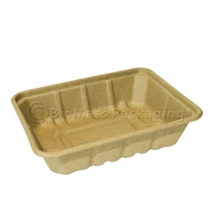 "36-oz Be Green Food Tray (8.9"" x 6.9"" x 2.2"") - Case of 500"