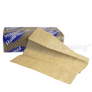 "Natural Multifold Towel (9"" x 3.25"" opens to 9"" x 9.5"") - Case of 4000"