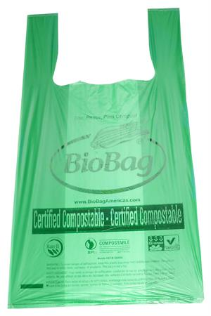 "BioShopper Medium T-Shirt Shopping Bag (16"" x 19.75) - Case of 500"