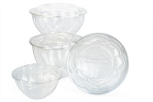 JustFresh 16-oz. Bowl & TerraPac 12-oz. Clear Square Bowl