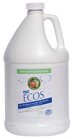 Earth Friendly Products ECOS Liquid Laundry Detergent Free & Clear 1-gallon bottles - Case of 4