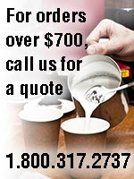 For ordersover $700, call us for a quote 1-800-317-2737