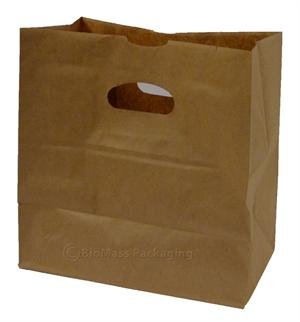 "Die-Cut Patch Handle Shopping Bag (11"" x 6"" x 11"") - Bale of 500"