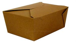 "BioPlus Earth #4 Natural Unbleached Paper Box (8.5"" x 6.25"" x 3.5"") - Case of 160"