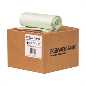 "EcoSafe 6400 33-gal Trash Can Liner (30"" x 42"") - Case of 135"