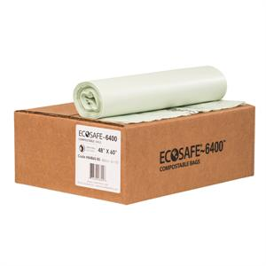 "EcoSafe 6400 64-gal Trash Can Liner (48"" x 60"") - Case of 60"