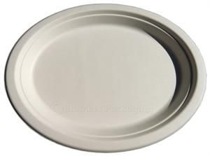 "BagasseWare Oval Platter (10.25"" x 7.75) - Case of 500"