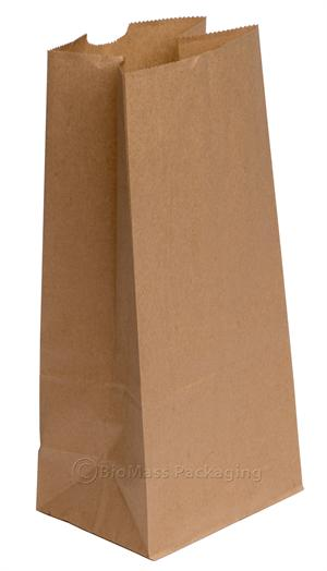 "8 lb. Natural Kraft Small Grocery Bag (6"" x 3.6"" x 11.06"") - Bundle of 500"