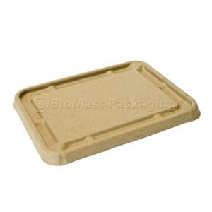 Fiber Lid for 36 and 54-oz. Be Green Food Trays - Case of 500